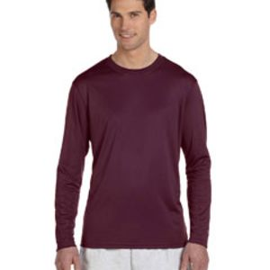 Adult 4.1 oz. Double Dry® Long-Sleeve Interlock T-Shirt Thumbnail