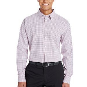 CrownLux Performance™ Men's Micro Windowpane Shirt Thumbnail